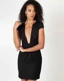 Only Keliefor Low Plunge Dress Black