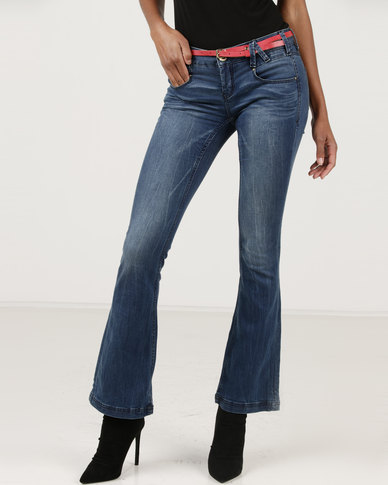 Only Rased Slim Flare Jeans Blue