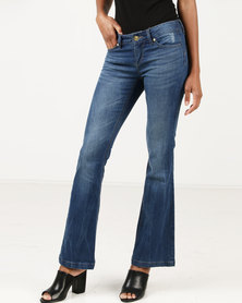 Only Push Up Flare Jeans Blue