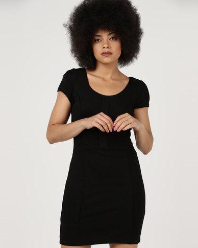 Utopia Ponti Cutline A-Line Dress Black