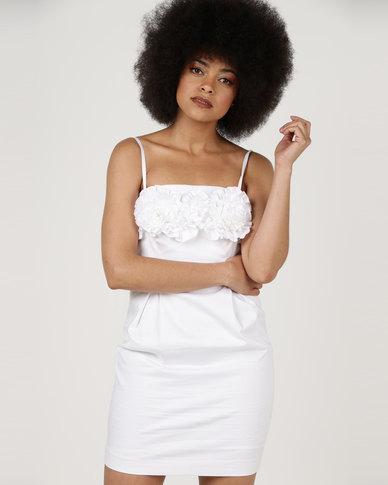 Utopia Cotton Sateen Strappy Dress White