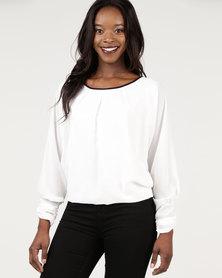 Assuili 3/4 Sleeve Blouse White