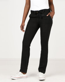 Assuili Prince Belt Pants Black