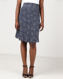 Assuili William de Faye Pois Design Skirt Blue