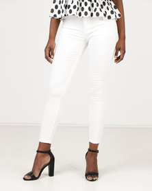 Assuili William de Faye High Waist Jeans White