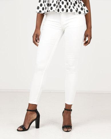 Assuili William de Faye High Waist Jeans White