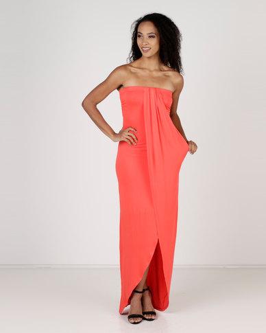 MANUELA: Red boob tube dresses