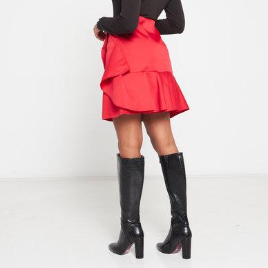 Amanda May Mock Frill Skirt Red