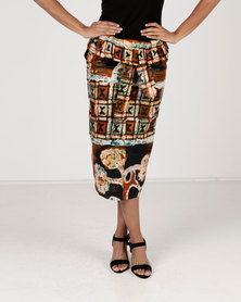 Amanda May High Waisted Tie Skirt Multi