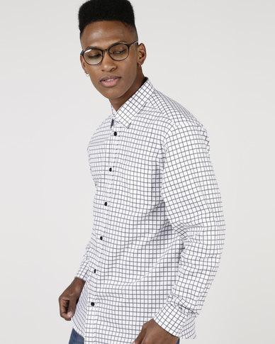 JCrew Long Sleeve Self Check Shirt Black
