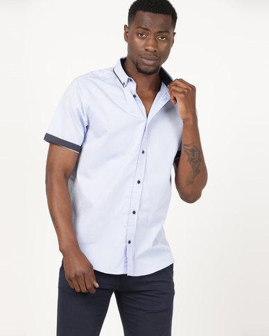 JCrew Short Sleeve Fancy Formal Shirt Blue