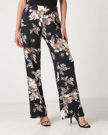 Queenspark Floral Print Knit Trousers Multi