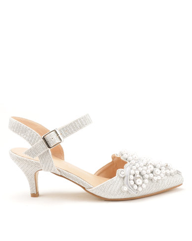 b77447bfb74d Queenspark Updated Pearl Glamour Shoes Silver