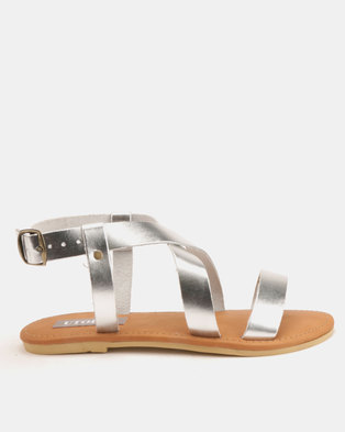 Utopia Leather Sandals Silver