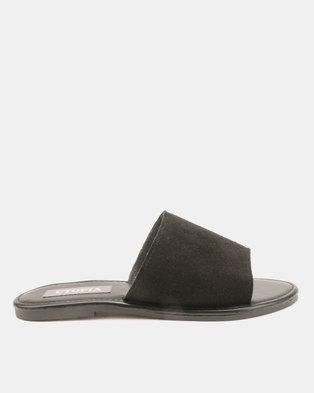 069514ac346 Utopia Leather Suede Mules Black
