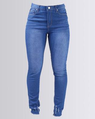 855451e67da1 Legit Ladder Hem Skinny Jeans Periwinkle