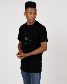 RVCA PERFORMANCE Star Circle Short Sleeve Tee Black