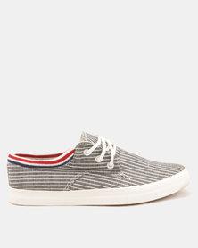 Utopia Stripe Sneaker Black