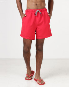 New Look Swim Shorts Red