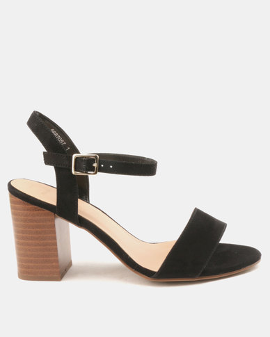 New Look WF Passion Suedette Two Part Heels Black