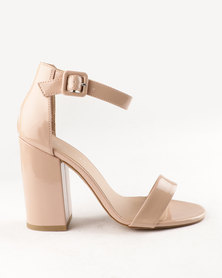 New Look Riches 6 Papu Block Heels Oatmeal