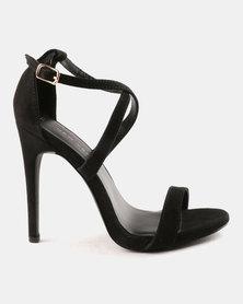 New Look Sarina SDT X Strap Stilettos Black