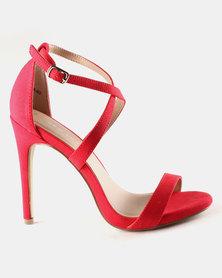 New Look Sarina SDT x Strap Stilettos Bright Red