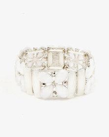 Queenspark Moonstone Stretchy Bracelet Cream