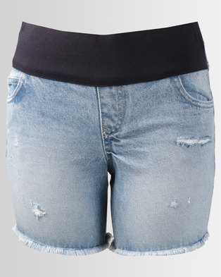 New Look Boyfriend Shorts Mid Blue