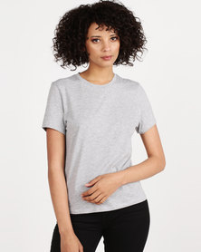 New Look Short Sleeve T-Shirt Grey Marl