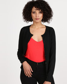 New Look Crew Neck Cardigan Black