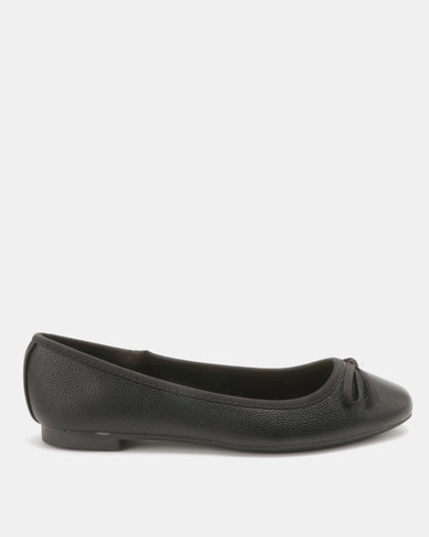 New Look Wide Fit Laire PU Leadin Square Toe Pumps Black