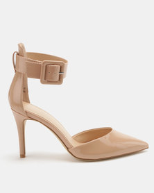 New Look Republic 2 Part Pointed Heels Oatmeal
