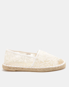 New Look Mace Lace Up Espadrilles White