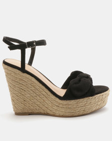 New Look Princess Suedette Bow Wedges Black
