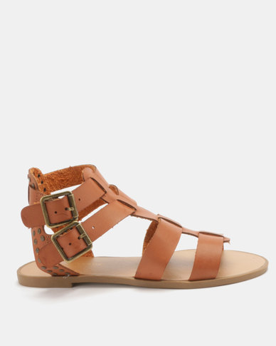 New Look Glade Stud Gladiator Sandals Tan