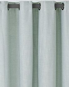 Sheraton Lined Slubbed Eyelet Lined Curtains Duckegg
