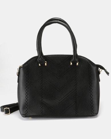Utopia Lasered Handbag Black