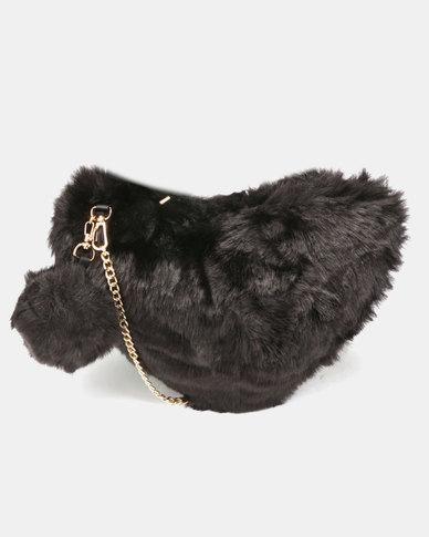 Utopia Faux Fur Bag Black
