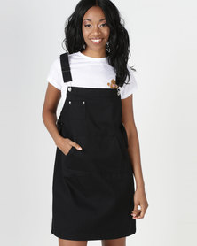 Utopia Dungaree With Abrasion Black