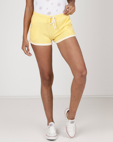 Utopia Fleece Shorts Yellow