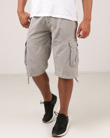 Utopia Cargo Shorts Grey