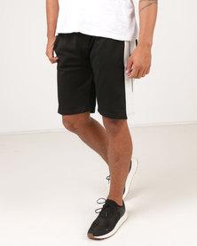 Utopia Fleece Pull On Shorts Black