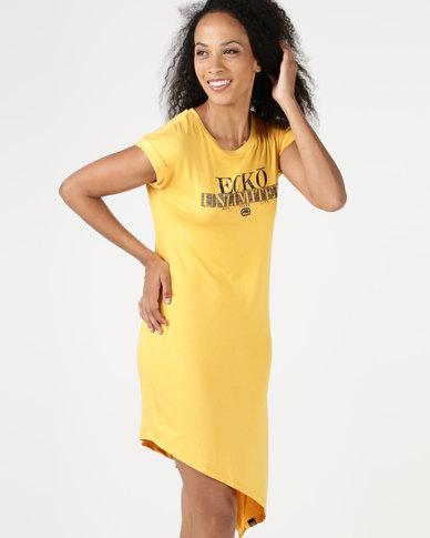 ECKÓ Unltd Asymmetrical Dress Yellow