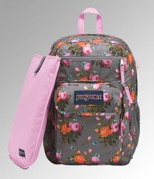 JanSport Digital Student Backpack Sunrise Bouquet Grey