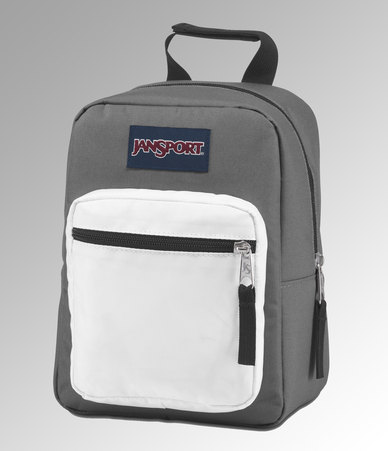Jansport Break Lunch Bag Shady Grey White