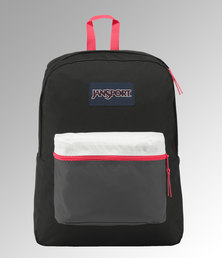 JanSport Exposed Backpack Black / Fluorescent Red