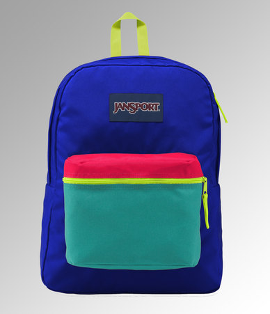 JanSport Exposed Backpack Regal Blue / Neon Yellow