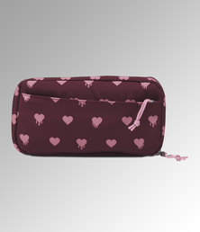 JanSport Pixel Accessory Pouch Russet Red Bleeding Hearts