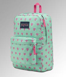JanSport Superbreak Backpack Cascade Bleeding Hearts